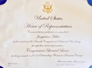 Us House of Representative Leonard Lance Somerset County Award
